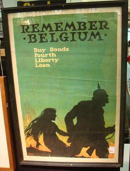ELLSWORTH YOUNG Framed War Bond Poster: Offset