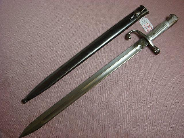 MAUSER Style Model 1891 Long Bayonet: By