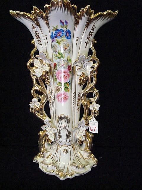 L & M BOND WARE Porcelain Vase: 17 1/2