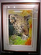WAYLAND MOORE Signed Numbered Leopard Serigraph:, Wayland Moore, Click for value