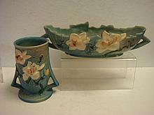 ROSEVILLE MAGNOLIA Bowl and Vase: