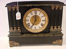 E INGRAHAM CO Black Mantel Clock: