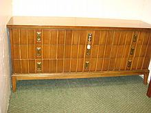 DIXIE Furniture 9 Drawer Mid-Century Low Dresser: