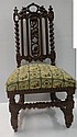 19th C Carved and Turned Oak Photographers Chair: