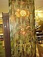 Antiqued Carved and Painted Panel: