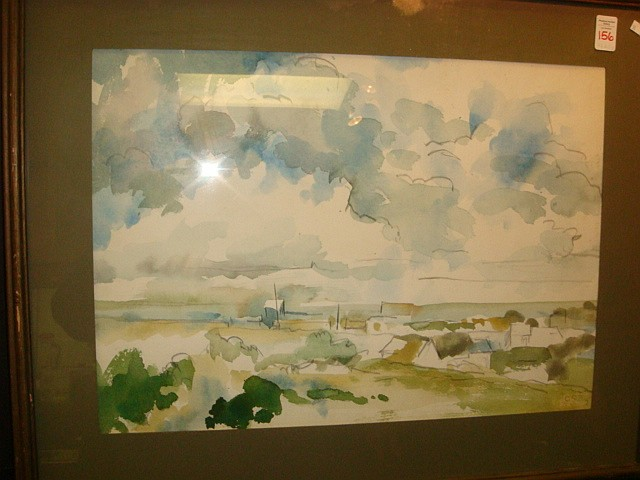 CHARLES SIBLEY Nags Head Watercolor on Paper:
