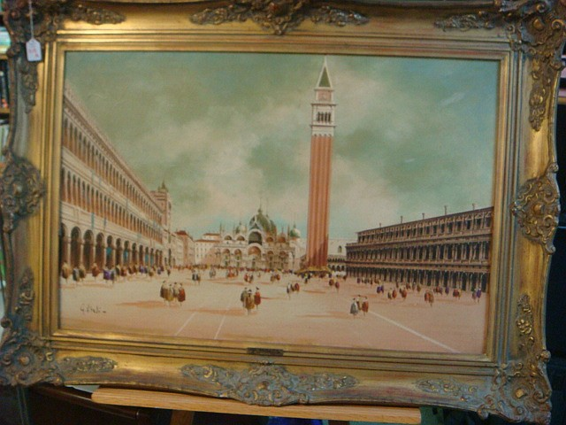 GIANCARLO VITALI Piazza San Marco Oil Painting: