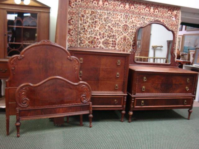 lot 84 berkey gay figural mahogany three piece bedroom set