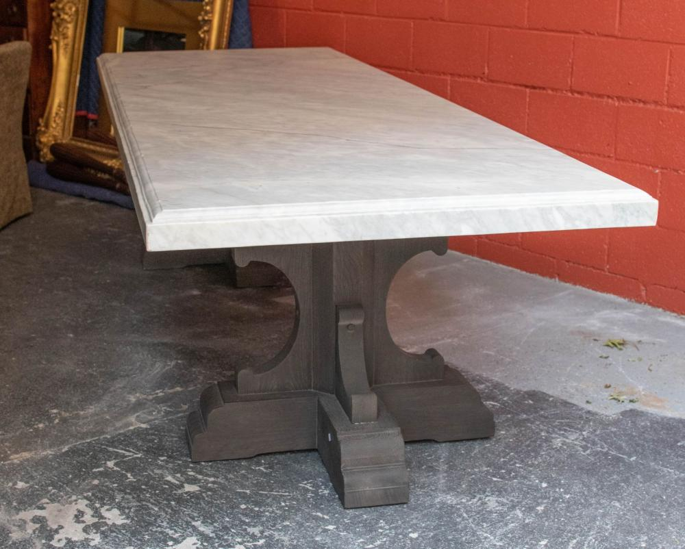 Sold Price Restoration Hardware 17th Century French Style Bastide Oak And Marble Dining Table July 3 0120 10 00 Am Edt