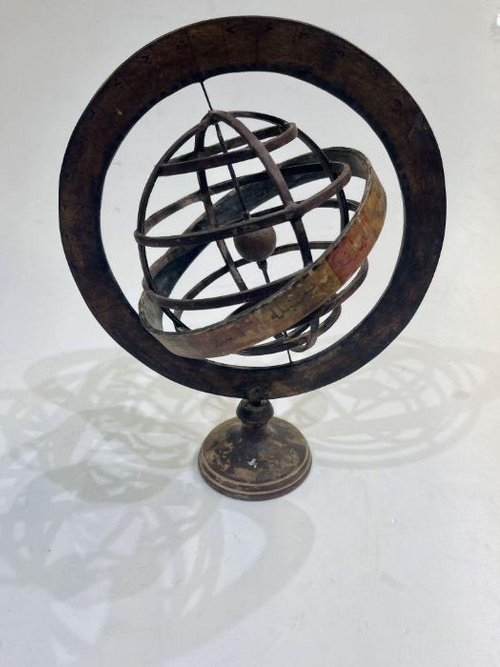 19th Century Ottoman Paper Mache Astronomical Sapphire Cihanma