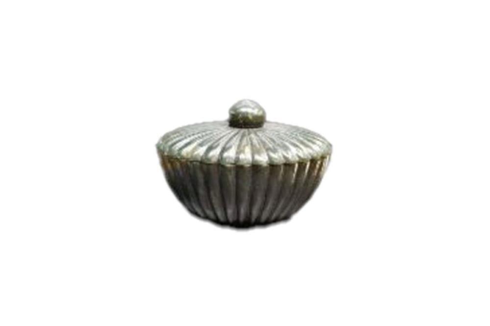 Indian Mughal Spinach Jade Ribbed Bowl