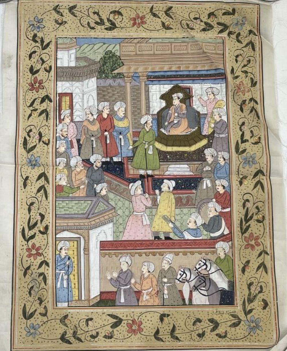 18th Century Indian Painting On Canvas