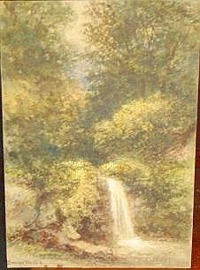 GEORGE WALLIS (1768-1847?) 'Country Waterfall'
