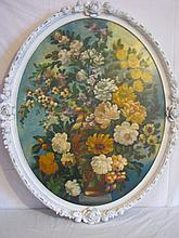 Decorative floral still life painting