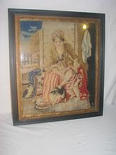 Antique needle point picture