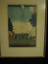 Japanese wood block print (Hiroshigate