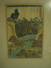 Japanese wood block print (Hiroshigate)