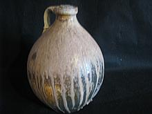 Ovoid Stone ware drip glaze jug