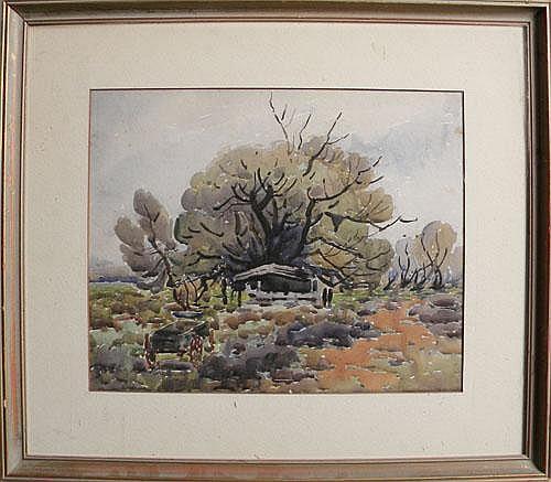 Charles Basing (American, 1865 - 1933), watercolor
