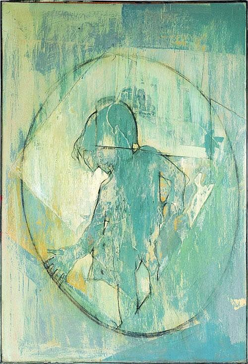 Tom Bostelle (Pennsylvania, 1921-2005), collage on
