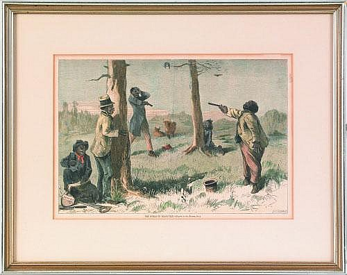 Print titled The Duello in Blackville, 9