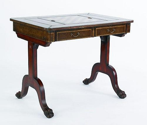 Maitland Smith mahogany games table, 29