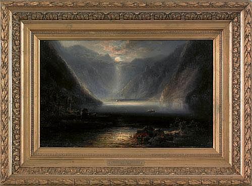 Ferdinand Feldhutter (German, 1842-1898), oil on