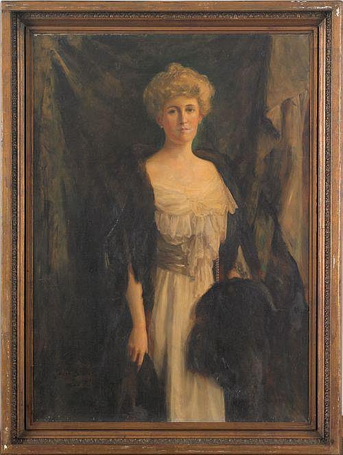Julian Russell Story (American, 1857-1919), oil on