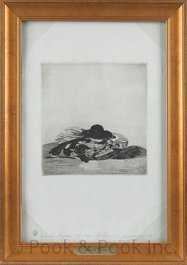 Edouard Manet (French 1832-1883), etching titled,
