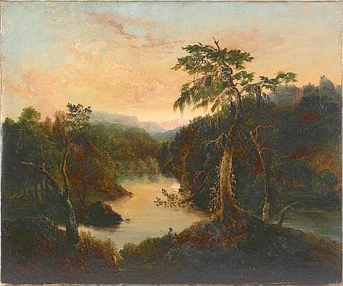 Thomas Cole (American, 1801-1848), oil on canvas