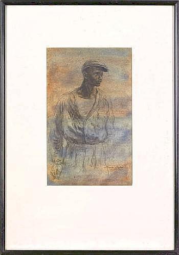 Albert Gold (American, 1916-2006), watercolor