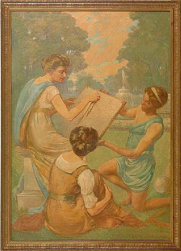 Joseph Frank Copeland (American, 1872-1957), oil