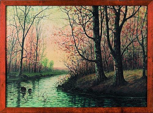 Raphael Senseman (American, 1870-1965), oil on