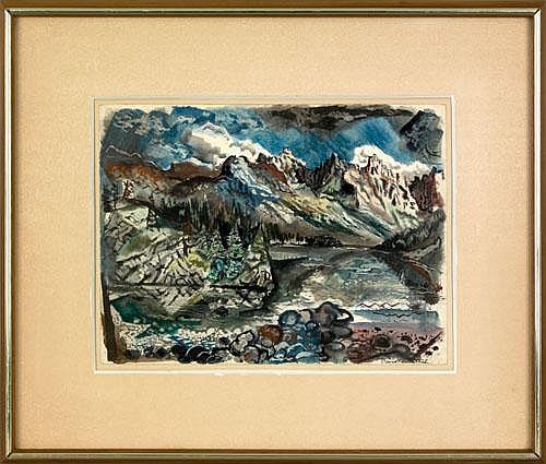David Fredenthal(American, 1914-1958), watercolor
