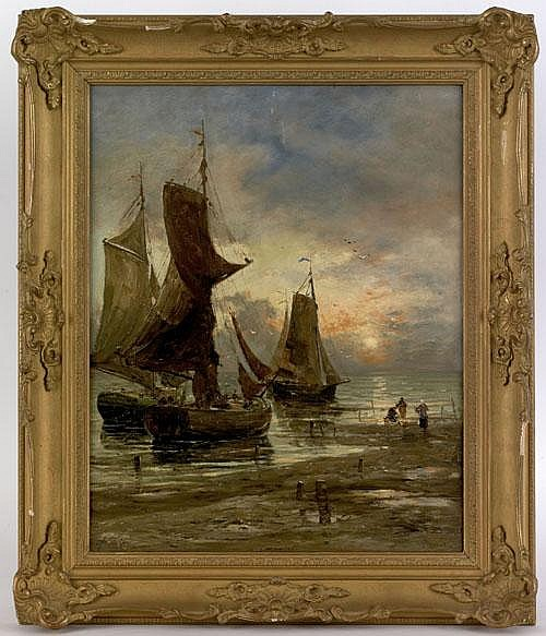 Hamilton Glass(British, 1820-1885), oil on canvas