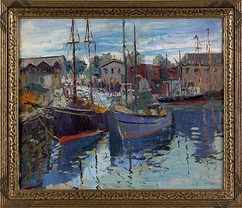 Cesare A. Ricciardi(American, 1892-1973), oil on