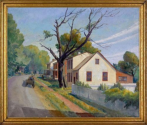 Christian Lawton Dull(American, 1902-1982), oil on