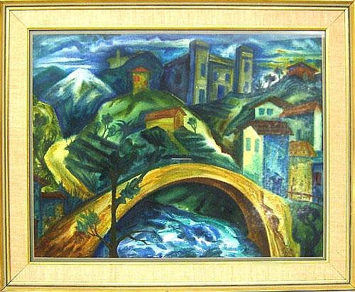 William Fett(American, 1918-2006), watercolor