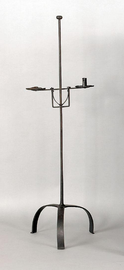 Floor standing double arm candlestand, 18th c., 51