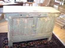 Original Painted Green Store Counter
