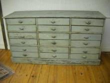 18 Drawer French Hardware Store Counter