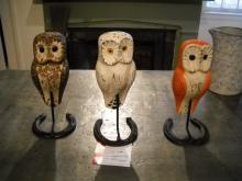 Hand Carved Owl with Stand