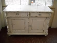 Two Door , two Drawer French Painted Buffet