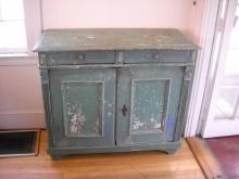 Original Green Painted French Buffet