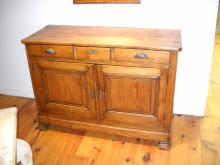 french Pine Two door Buffet with original lock and key