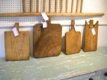 Collection of French chopping boards