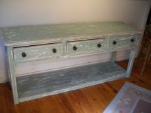 Painted Pot Board Shelf Dresser Base