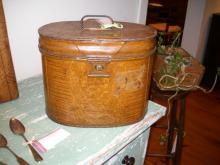 English metal Hat box
