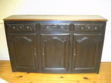 French black painted enfilade