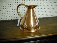 Copper English measure pitcher